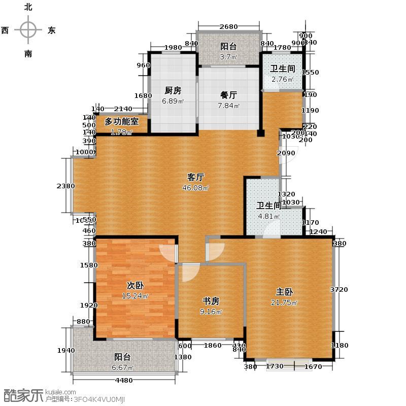 集美岸上蓝山137.86㎡F5户型3室1厅2卫1厨