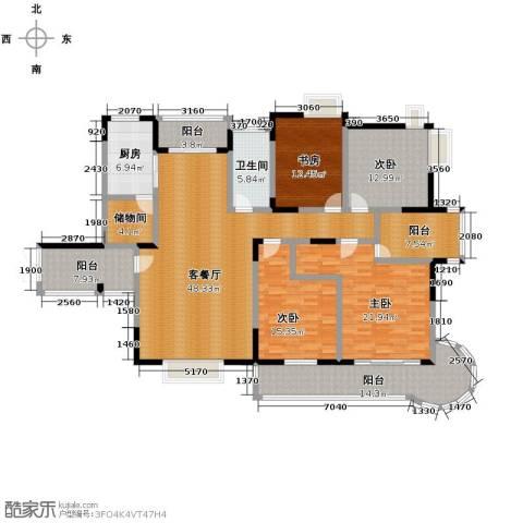 伊萨卡排屋4室1厅1卫1厨233.00㎡户型图