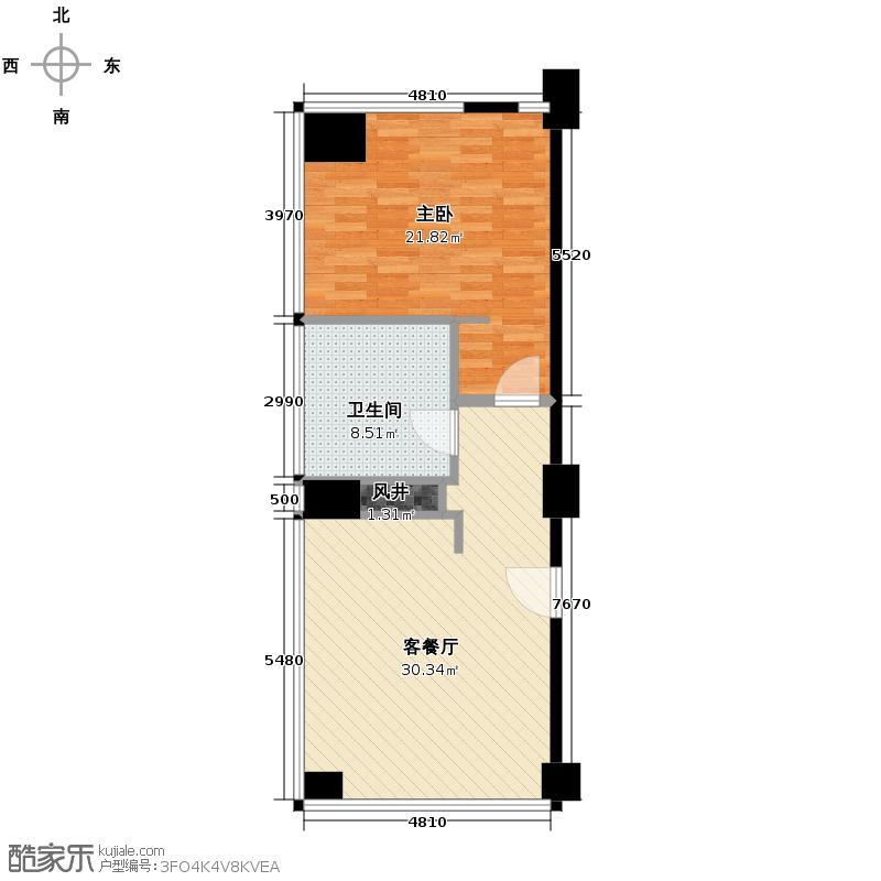 绿城千岛湖度假公寓112.00㎡6号楼西边套缇香D户型1室1厅1卫
