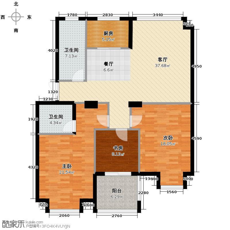 竹海水韵别墅120.12㎡户型3室1厅2卫1厨