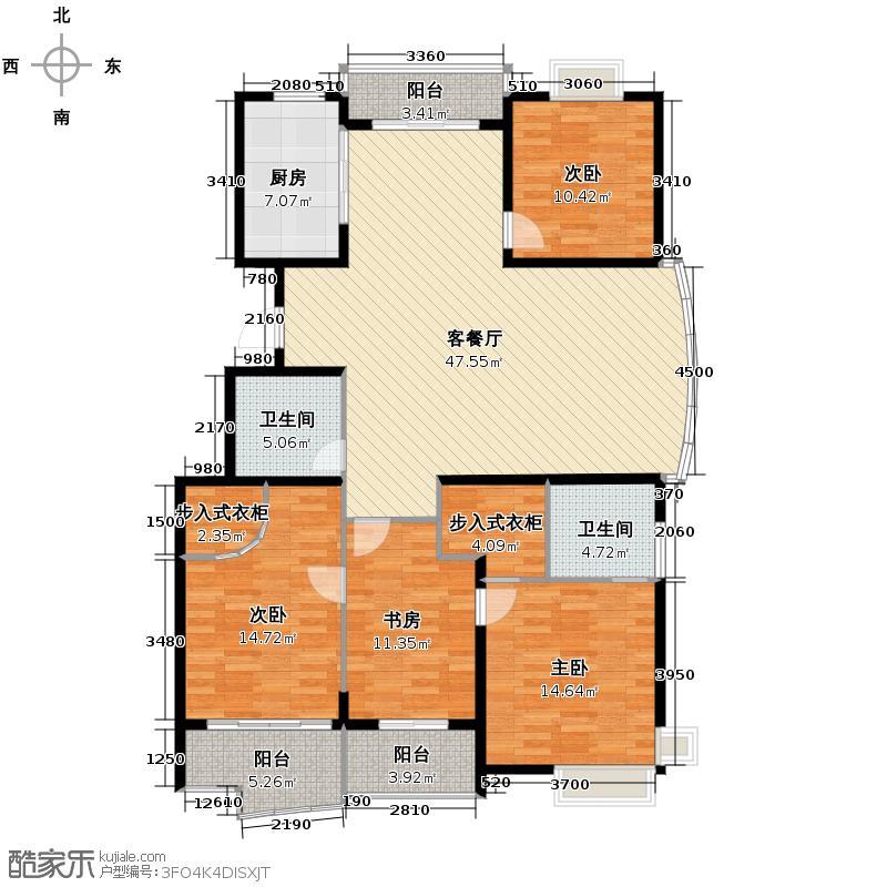 e世纪城市花园166.00㎡户型4室1厅2卫1厨