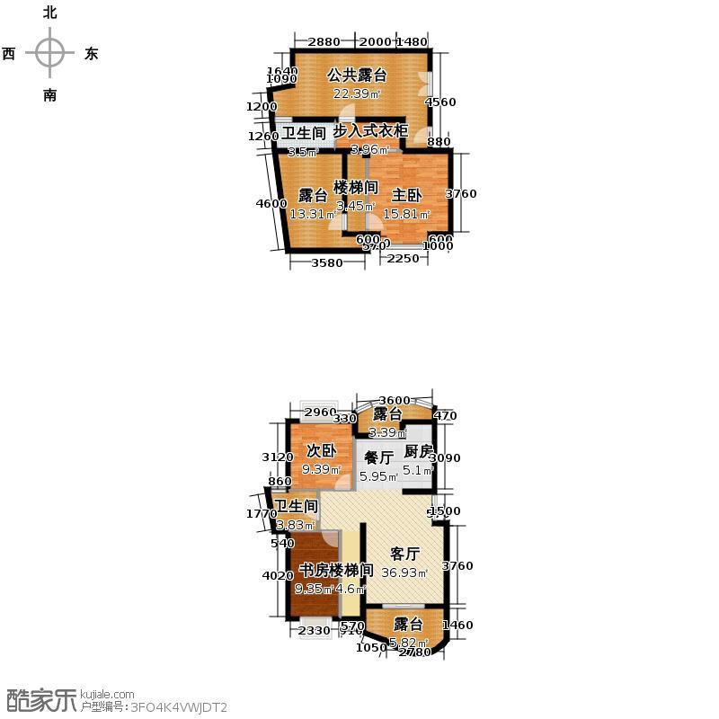 天阳美林湾121.31㎡户型3室1厅2卫