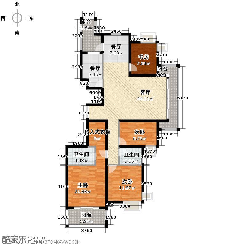 万都晶典公寓159.96㎡A2豪华复式户型4室2厅2卫