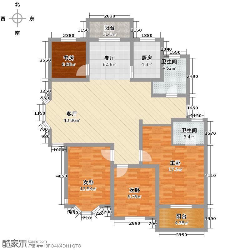 森淼径香苑146.88㎡户型4室1厅2卫1厨