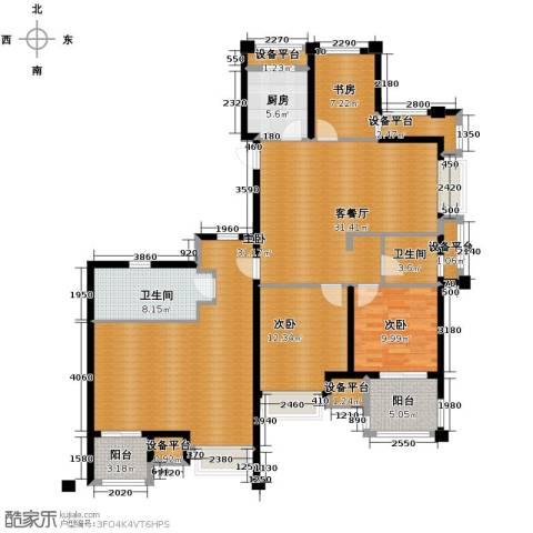 德信早城4室1厅2卫1厨141.00㎡户型图