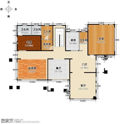 汀香别墅二期1室1厅3卫1厨408.00㎡户型图