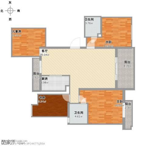 中大简界4室1厅2卫1厨156.00㎡户型图