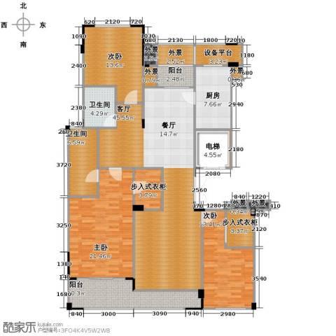 德信臻园3室1厅2卫1厨163.00㎡户型图