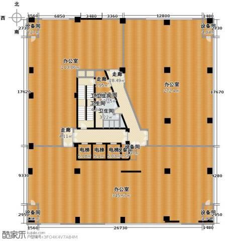嘉联华铭座公寓4卫0厨1281.00㎡户型图