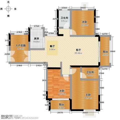 伊萨卡排屋3室1厅2卫1厨149.00㎡户型图