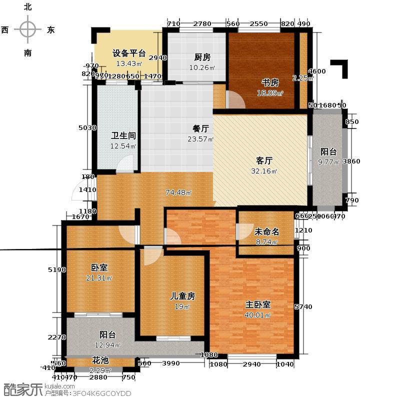 鑫福万泰华庭138.00㎡E户型4室2厅2卫