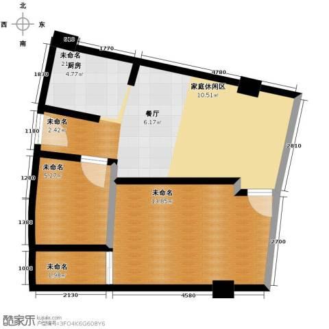 同方国际1室1厅1卫0厨50.00㎡户型图