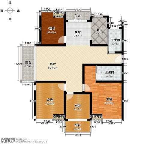 东海未名园4室1厅2卫0厨153.00㎡户型图