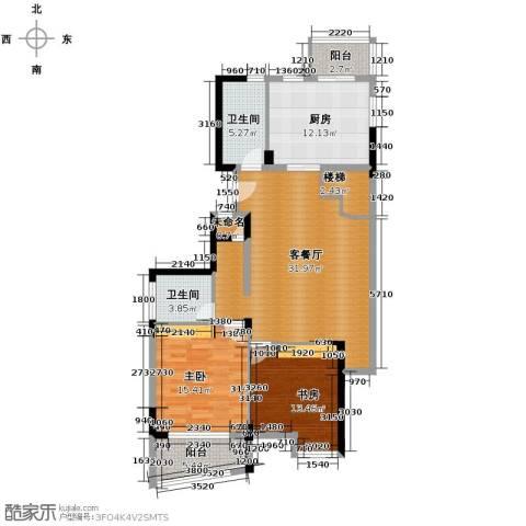 秋涛雅苑1厅2卫1厨127.00㎡户型图