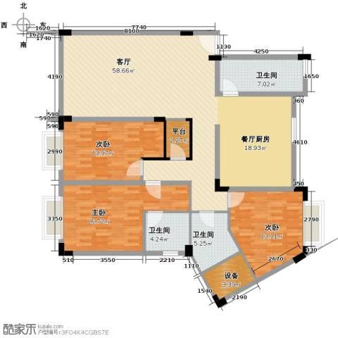 碧云阁都市华庭3室1厅3卫0厨139.31㎡户型图