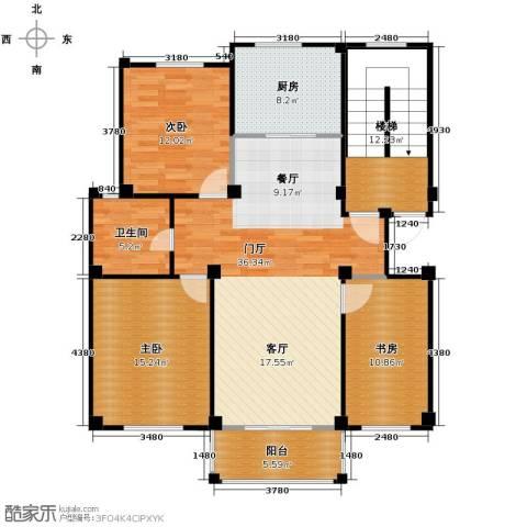 众孚水榭花都3室0厅1卫1厨106.00㎡户型图