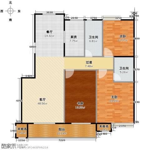 阳光景台3室1厅2卫1厨131.02㎡户型图