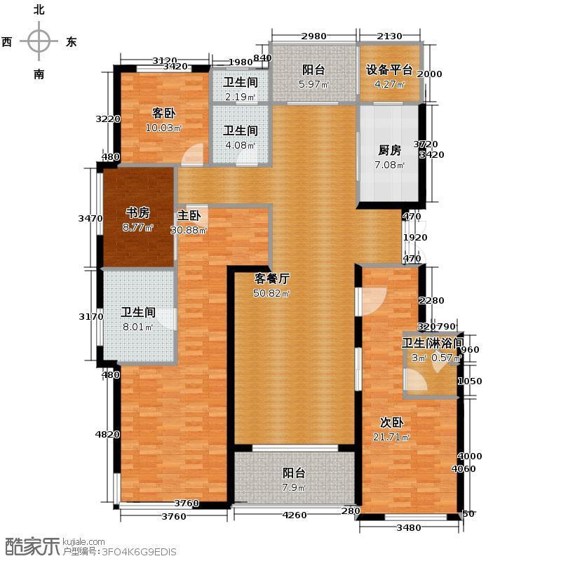 滨江凯旋门189.00㎡N户型4室2厅3卫
