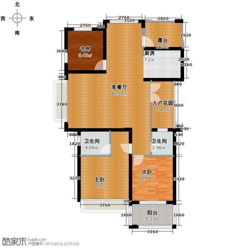 东海柠檬郡133.00㎡A7户型3室1厅2卫