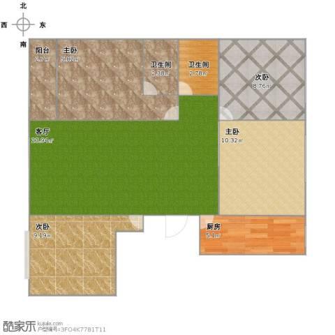 美罗城4室1厅2卫1厨96.00㎡户型图
