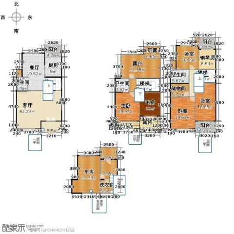 赞成荆山翠谷二期1室1厅3卫1厨286.74㎡户型图