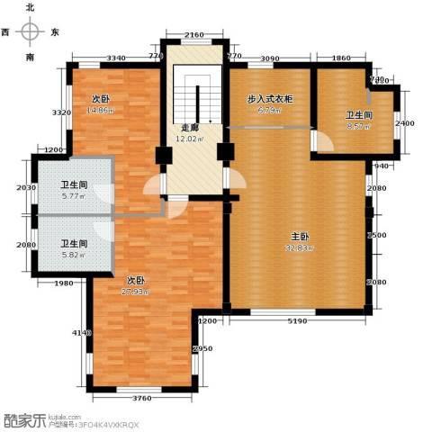 汀香别墅二期3室0厅3卫0厨427.00㎡户型图