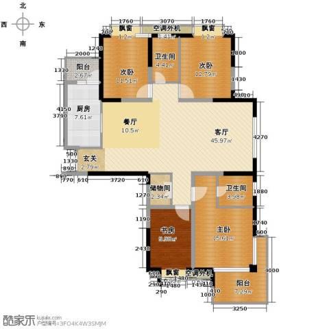 梦琴湾4室1厅2卫1厨142.87㎡户型图
