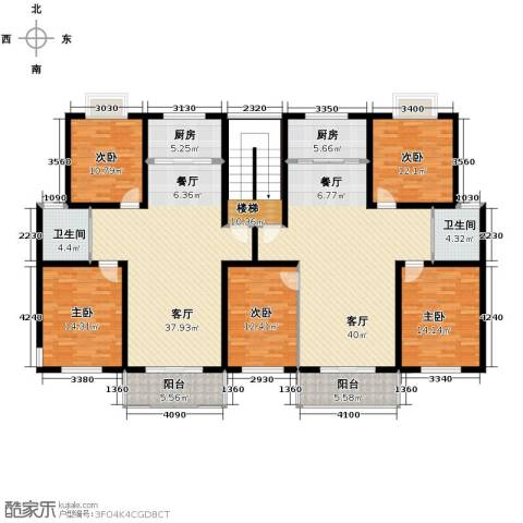 金世纪红枫苑5室2厅2卫2厨258.00㎡户型图