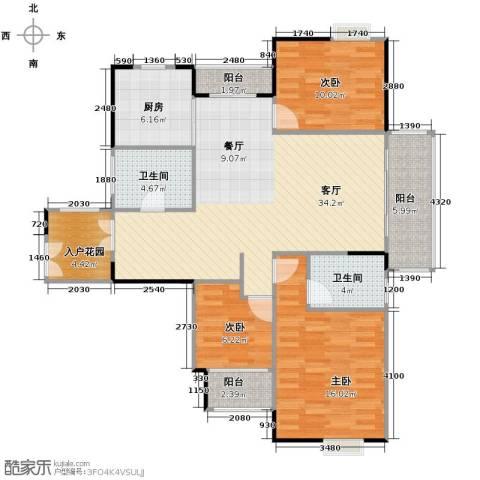 伊萨卡排屋3室1厅2卫1厨130.00㎡户型图