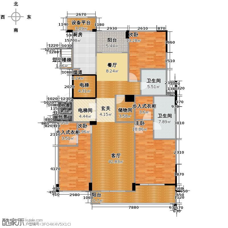 德信臻园169.00㎡C2户型3室1厅2卫1厨