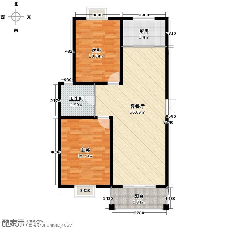 闲林山水丹枫苑73.00㎡户型2室1厅1卫1厨
