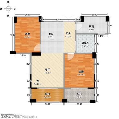 康恒悦麒美寓2室0厅1卫1厨89.00㎡户型图