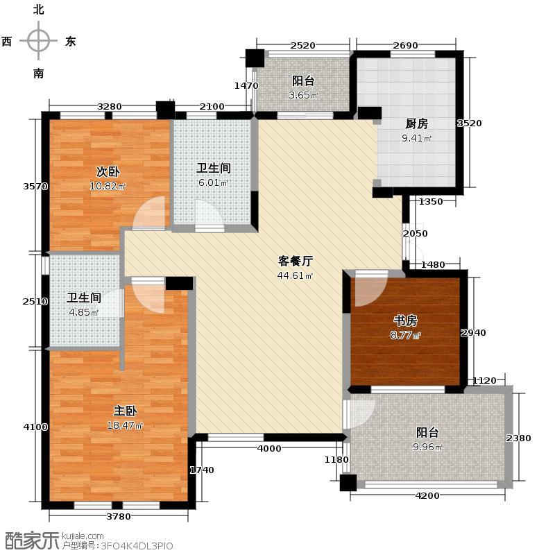 桂花城(临平)119.26㎡绿城临平桂花城户型3室1厅2卫