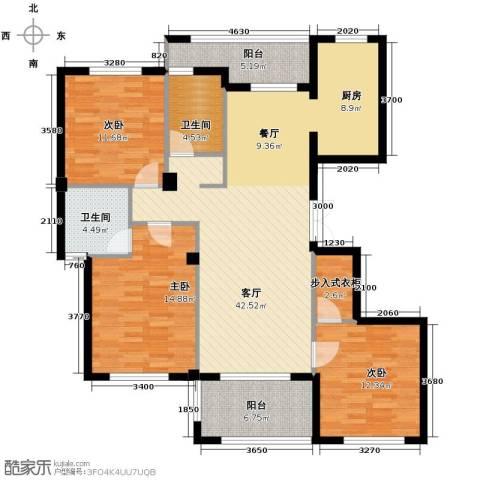 金溪园3室1厅2卫0厨135.00㎡户型图