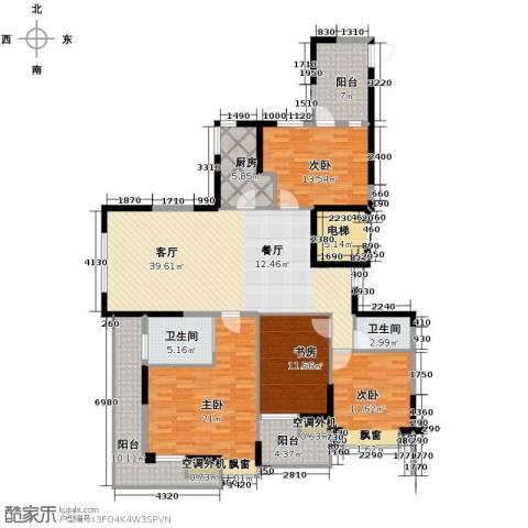 梦琴湾4室1厅2卫1厨170.00㎡户型图