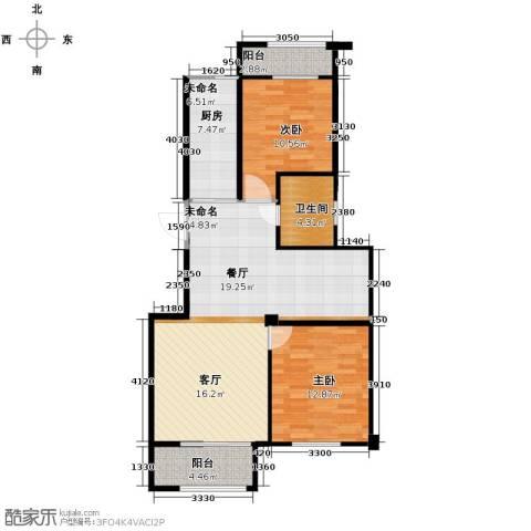 绿城翡翠湾2室0厅1卫0厨92.00㎡户型图
