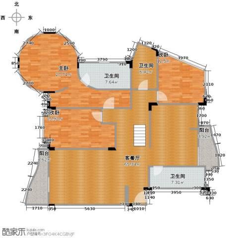 碧云阁都市华庭3室1厅3卫0厨163.82㎡户型图