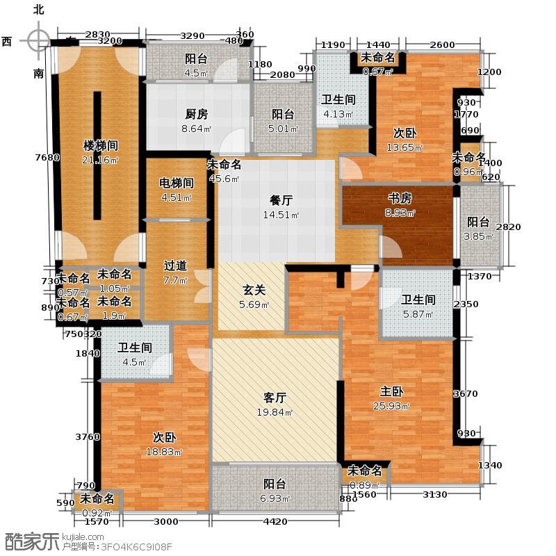 开元广场178.00㎡C1户型4室2厅3卫
