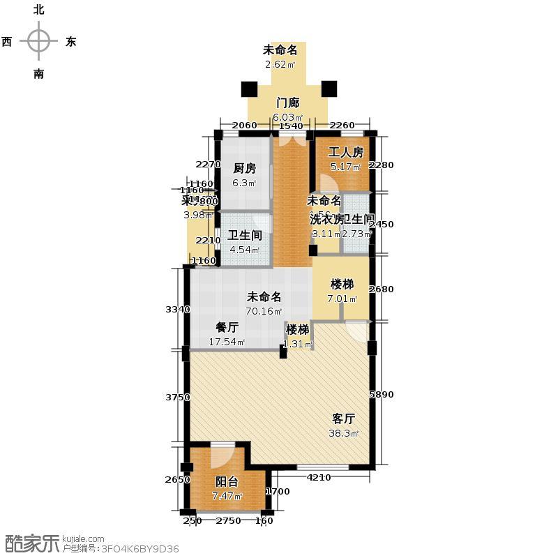 西溪山庄257.00㎡34号楼北入口中间套户型10室