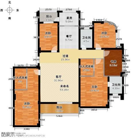 登云大厦5室0厅2卫1厨216.00㎡户型图