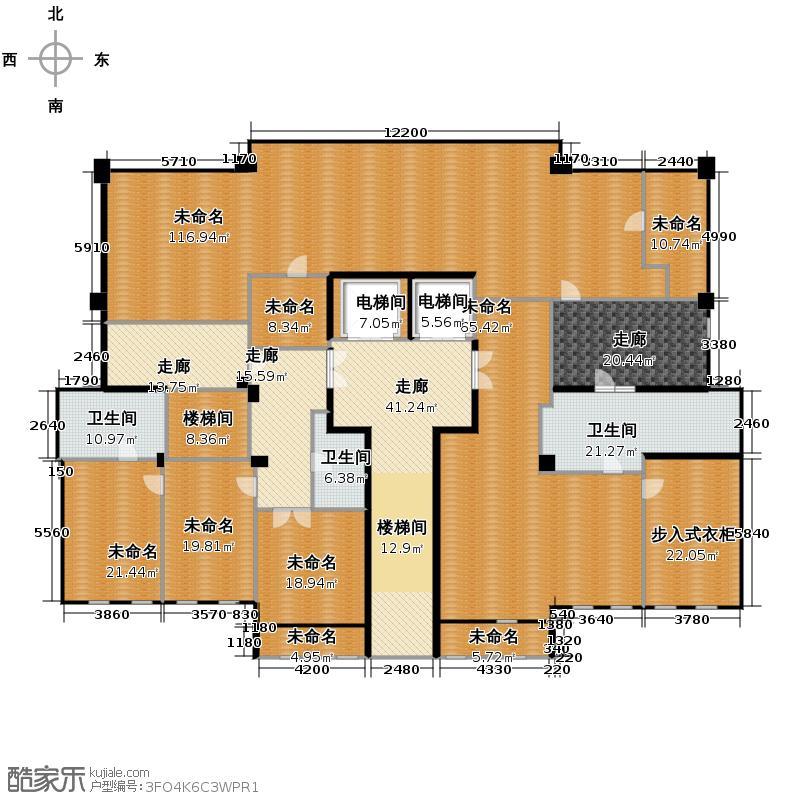 彩虹豪庭477.55㎡顶跃平面图户型10室