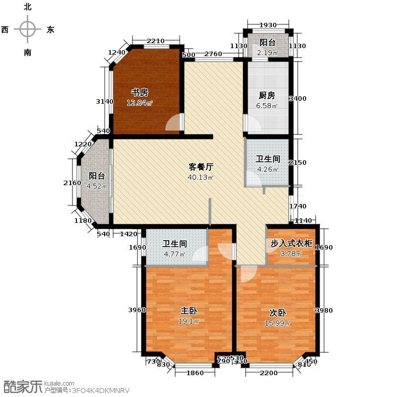 怡景花城134.00㎡户型3室1厅2卫1厨