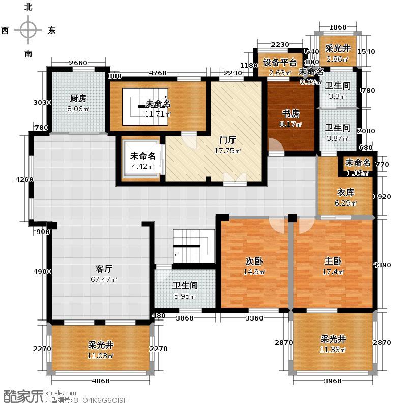 郡原相江公寓185.60㎡12-24号楼多层F-C1户型3室2厅2卫