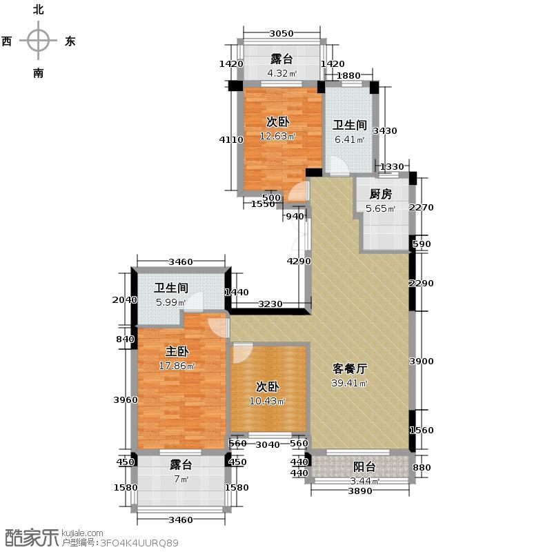 西溪里137.00㎡熙园5号楼偶数层创新改善型户型3室1厅2卫1厨
