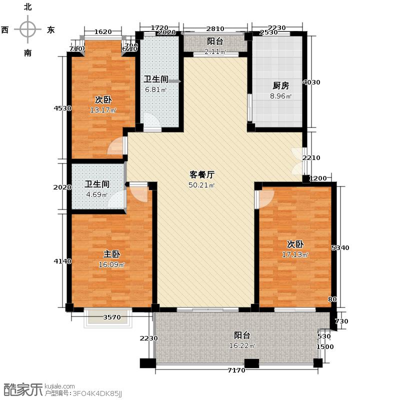 黄鹤山居144.84㎡1#1-101户型3室1厅2卫1厨