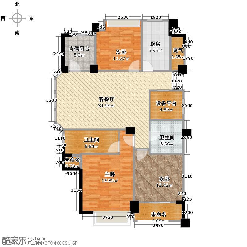 金昌春和钱塘127.00㎡D户型3室2厅2卫