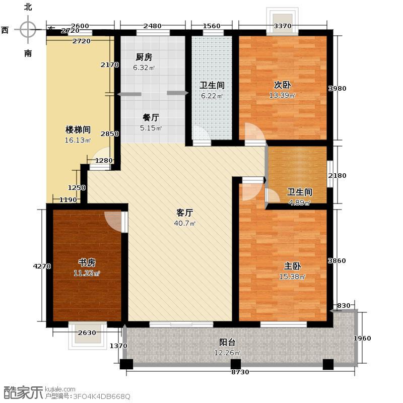 盛世嘉园121.00㎡多层G户型3室1厅2卫