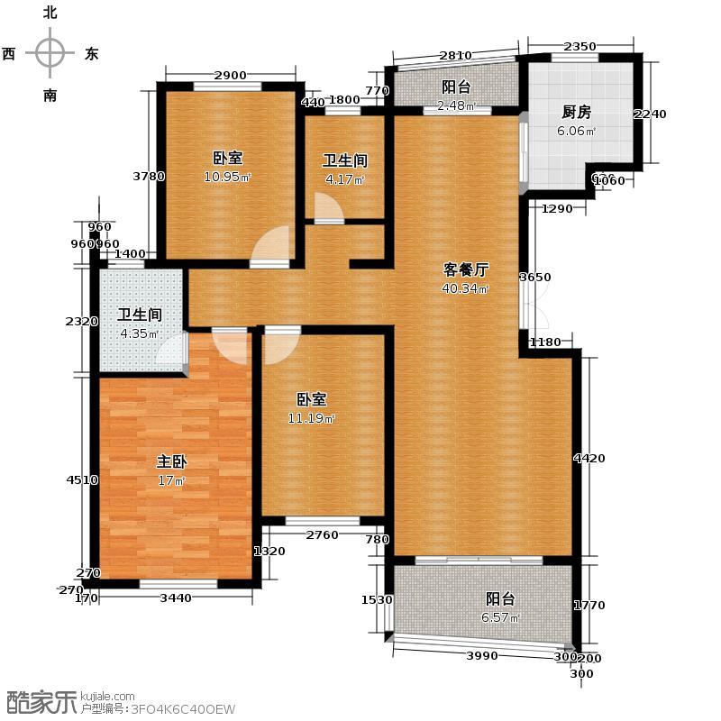 贺田尚城�湾137.00㎡H-N户型3室2厅2卫