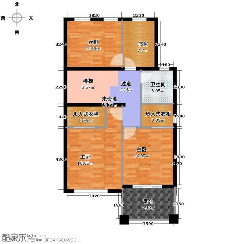 经纬美耀湾293.00㎡E二层户型10室