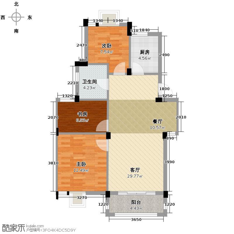 广和美地兰庭88.50㎡D5户型3室1厅1卫1厨